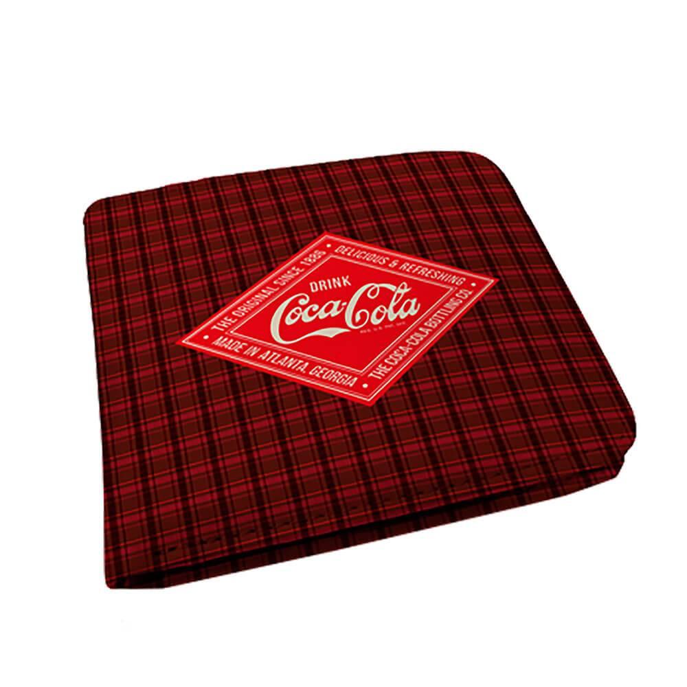 Carteira Coca-Cola Del e Refresh Xadrez em PU - Urban - 12x9 cm