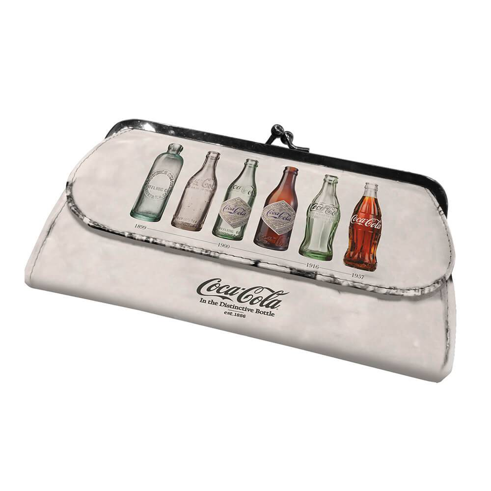 Carteira Coca-Cola Grandma Bottle Evolution Creme em PU - Urban - 20x11,5 cm