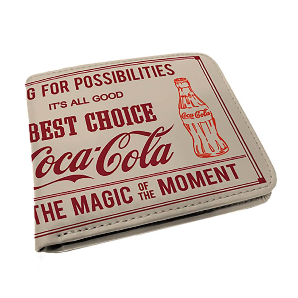 Carteira Coca-Cola Magic Moment Bege em PU - Urban - 12x9 cm