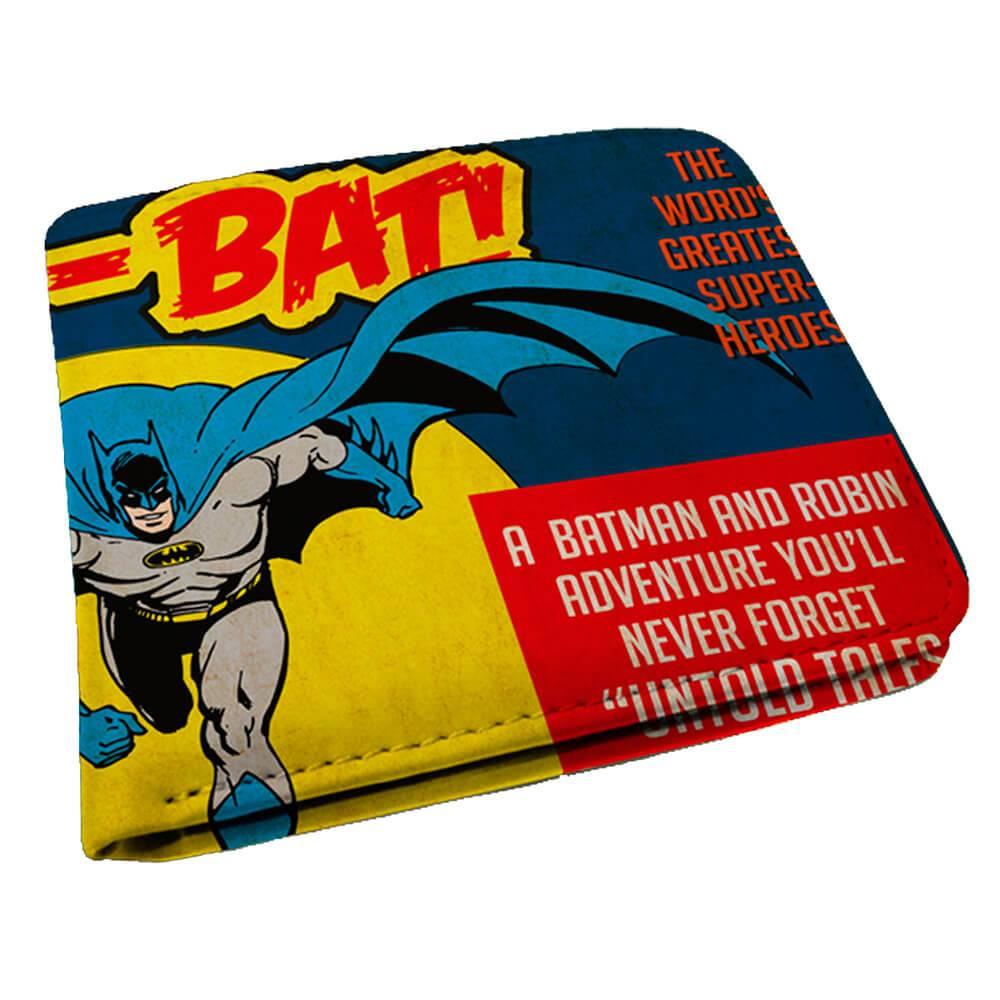 Carteira DC Comics Batman and The Moon Amarelo em PU - Urban - 12x9 cm