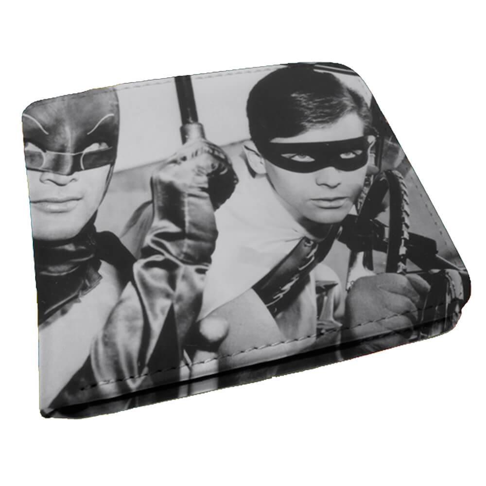 Carteira DC Comics Movie Batman and Robin Preto e Branco em PU - Urban - 12x9 cm