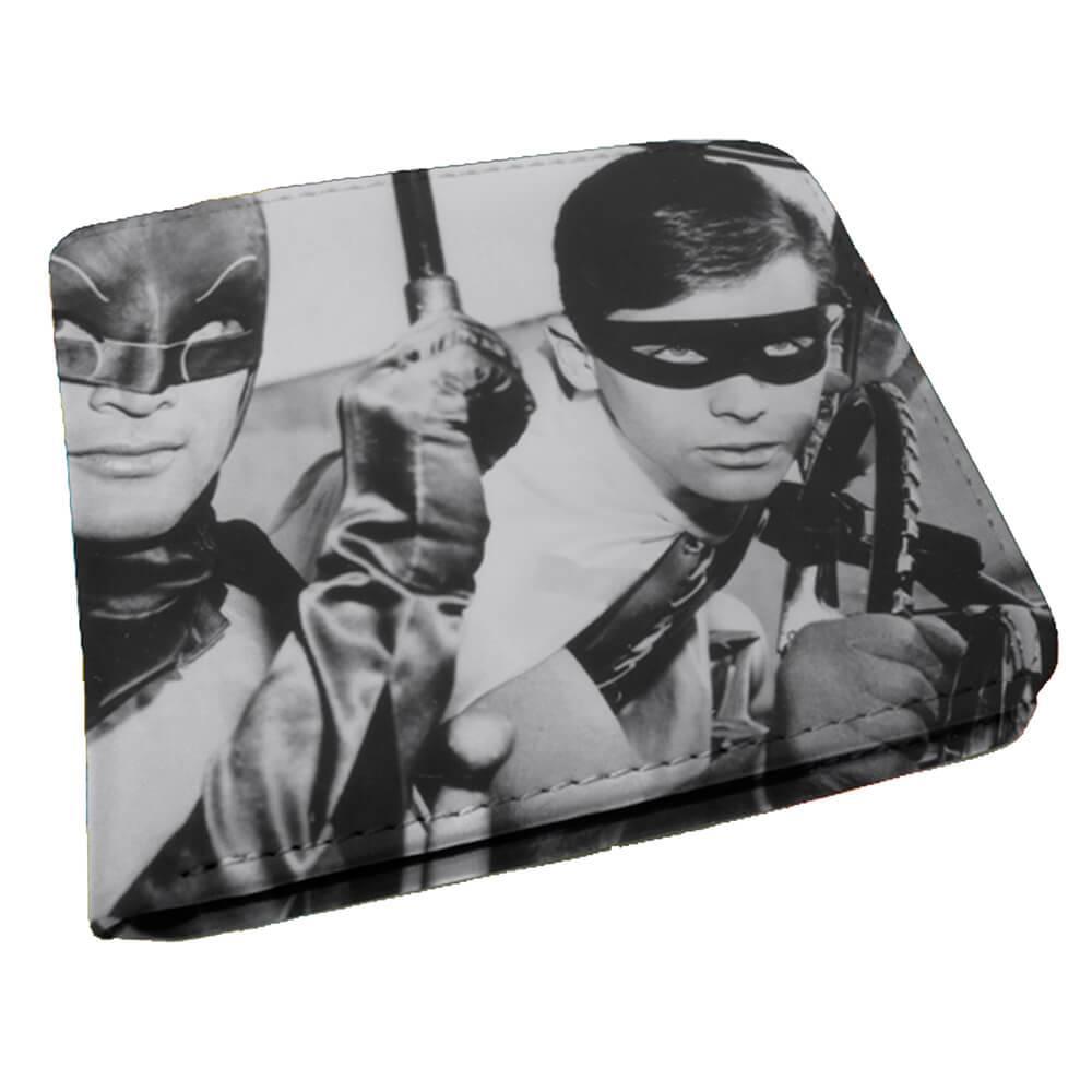 Carteira DC Comics Movie Batman and Robin Preto e Branco em PU - Urban - 12x9 cm