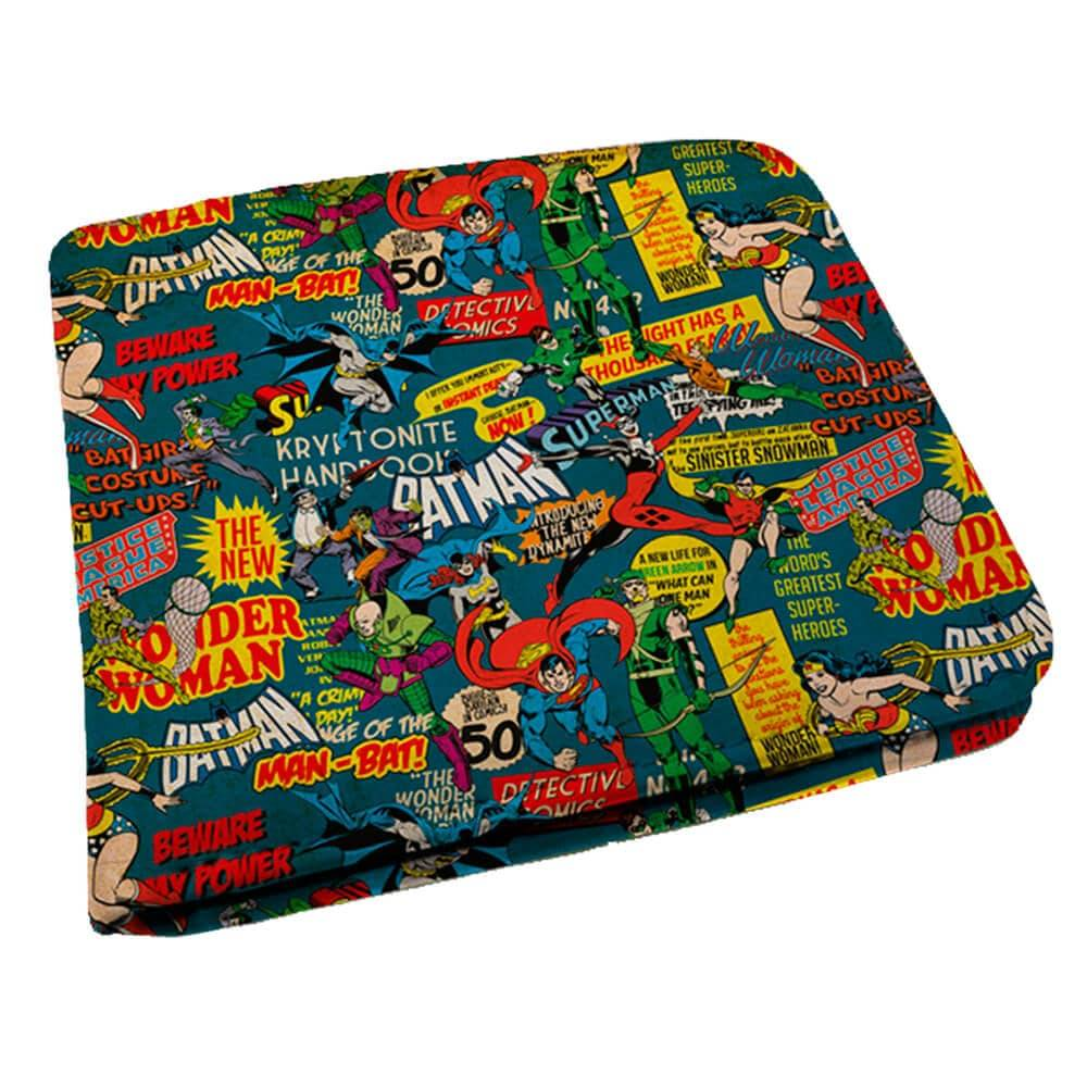 Carteira DC Comics Super Heroes em PU - Urban - 12x9 cm