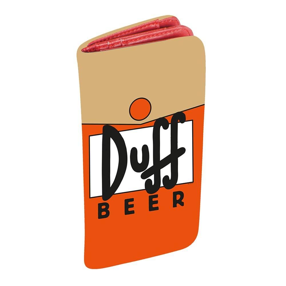 Carteira Duff Beer - The Simpsons - Laranja em PU - 19x9 cm
