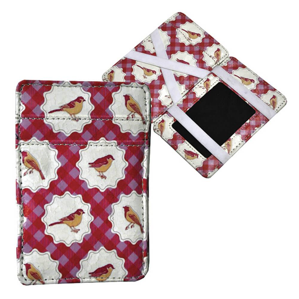 Carteira Magic Wallet Birds Chess em PU - Urban - 11x7,3 cm