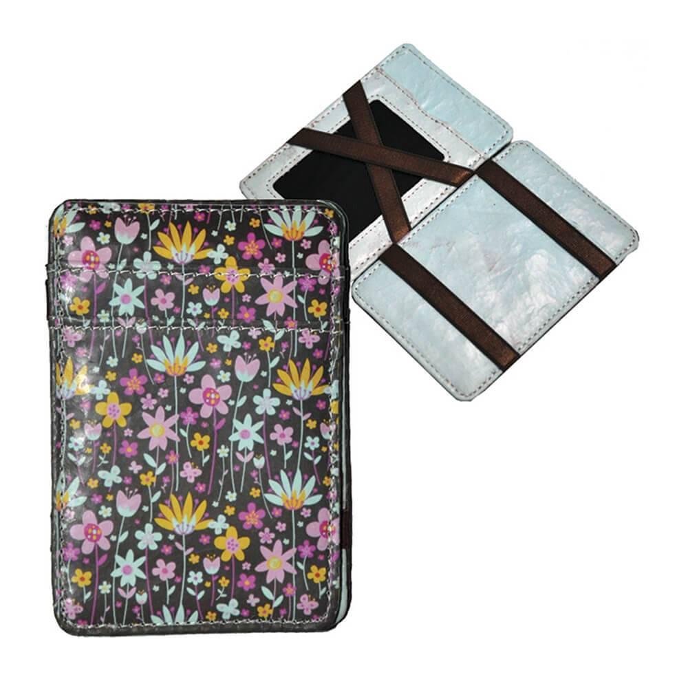 Carteira Magic Wallet Flowers em PU - Urban - 11x7,3 cm