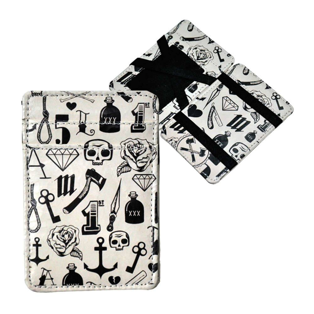 Carteira Magic Wallet Tattoo Icons em PU - Urban - 11x7,3 cm