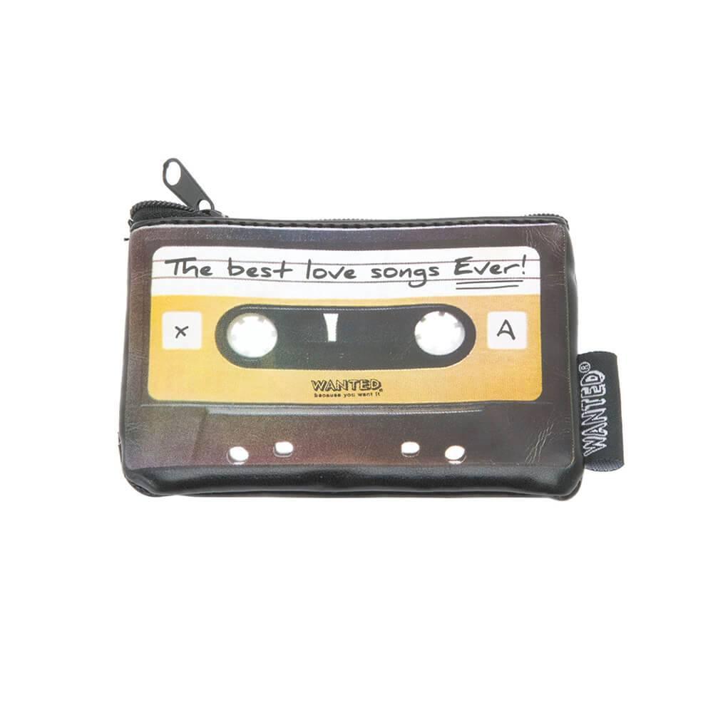 Carteira Recording Tape Preta em PU - Urban - 11x8 cm