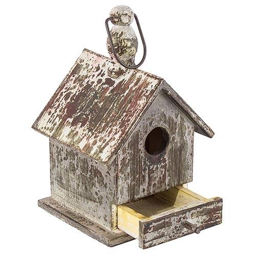 Casa de Pássaro Envelhecida Greenway - 27x17 cm