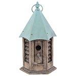 Casa de Pássaro Hexagonal Greenway - 45x25 cm