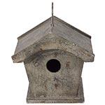 Casa de Pássaro Metal Retrô Greenway - 25x23 cm