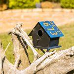 Casa de Pássaro Teto com Placa Azul Oldway