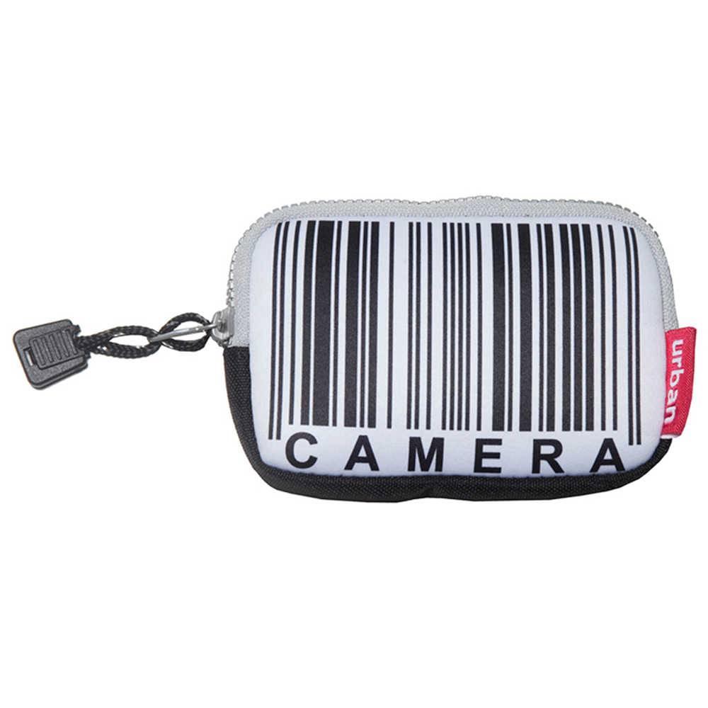 Case para Câmera Barcode Branco e Preto em Neopreme - Urban - 13x9 cm
