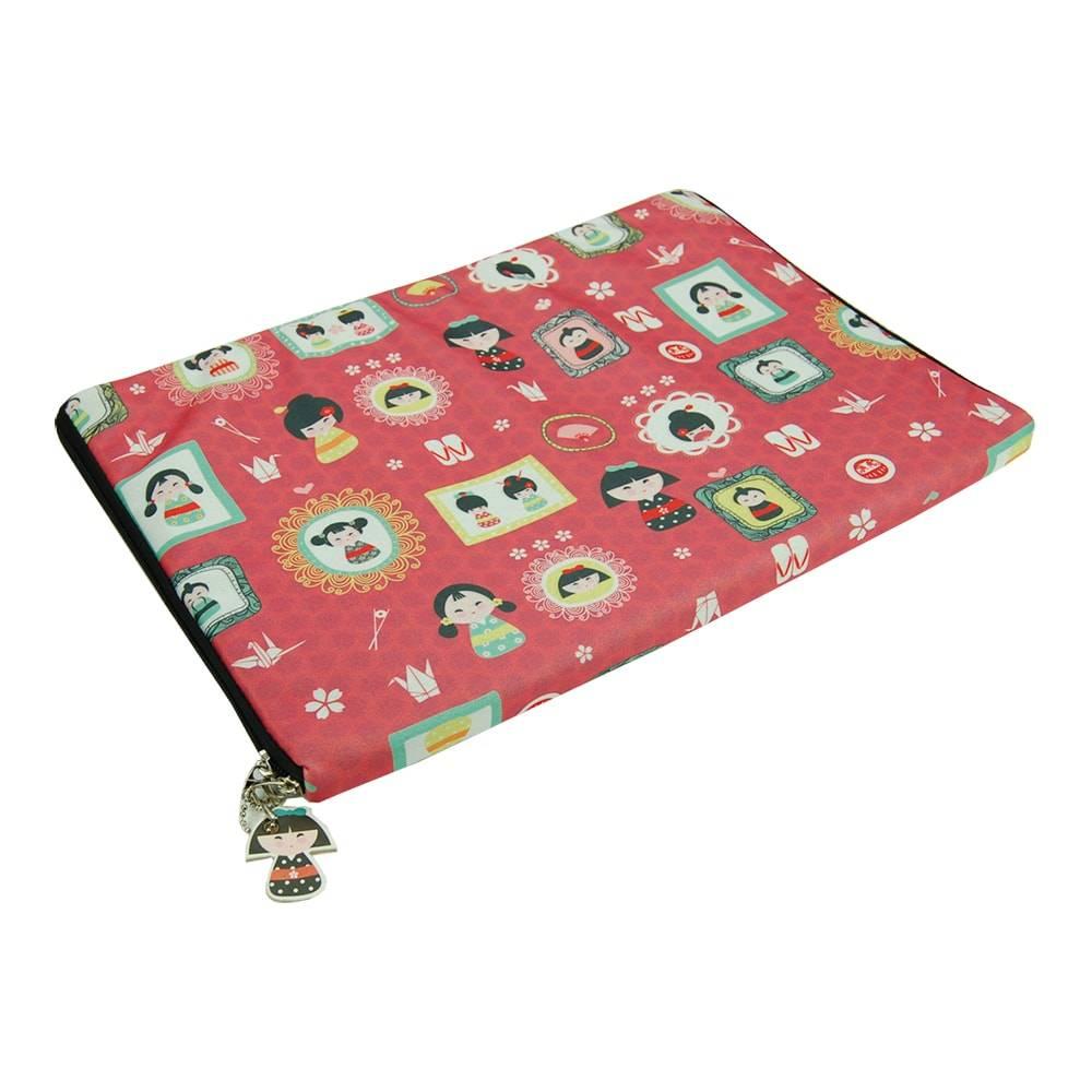 Case para Notebook 13 Gueixa da Sorte - Carpe Diem - em Neoplex - 36x25 cm