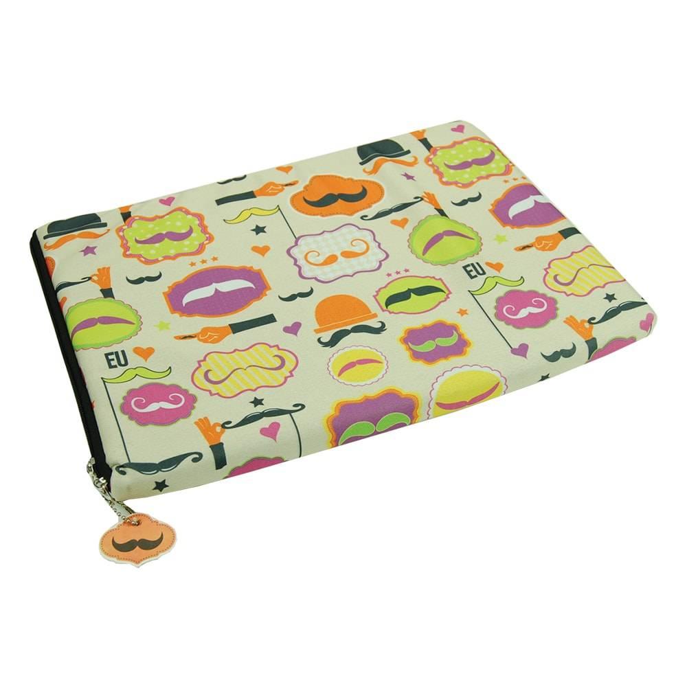 Case para Notebook 15 Polegadas Mustache - Carpe Diem - em Neoplex - 39x29 cm