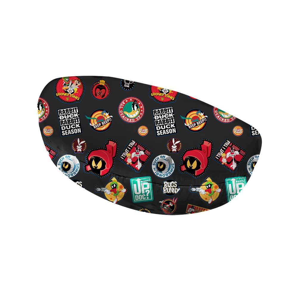 Case Porta Óculos Looney Tunes Buttons Preto em PU - Urban - 16,5x8 cm
