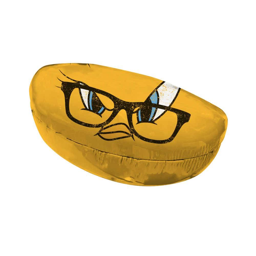 Case Porta Óculos Looney Tunes Tweety Big Face Amarela em PU - Urban - 16,5x8 cm