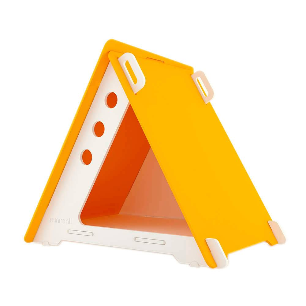 Casinha para Pet CampHaus Amarela e Branca em MDF - Média - 91x77 cm