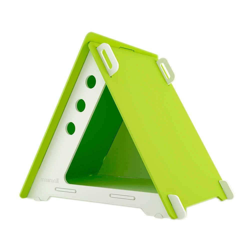 Casinha para Pet CampHaus Verde e Branca em MDF - Pequena - 68x56 cm