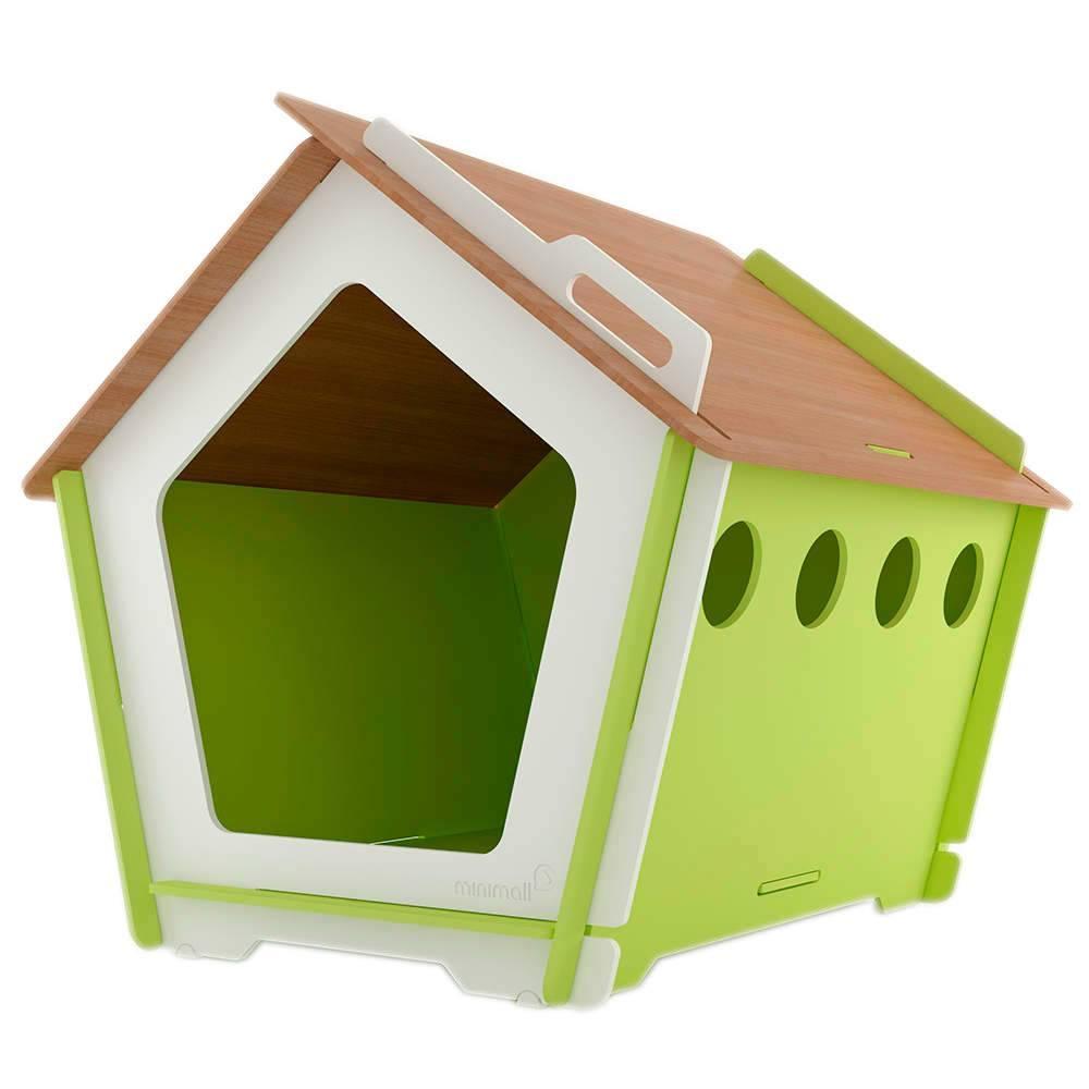 Casinha para Pet KingHaus Verde em MDF - Pequena - 63x63 cm