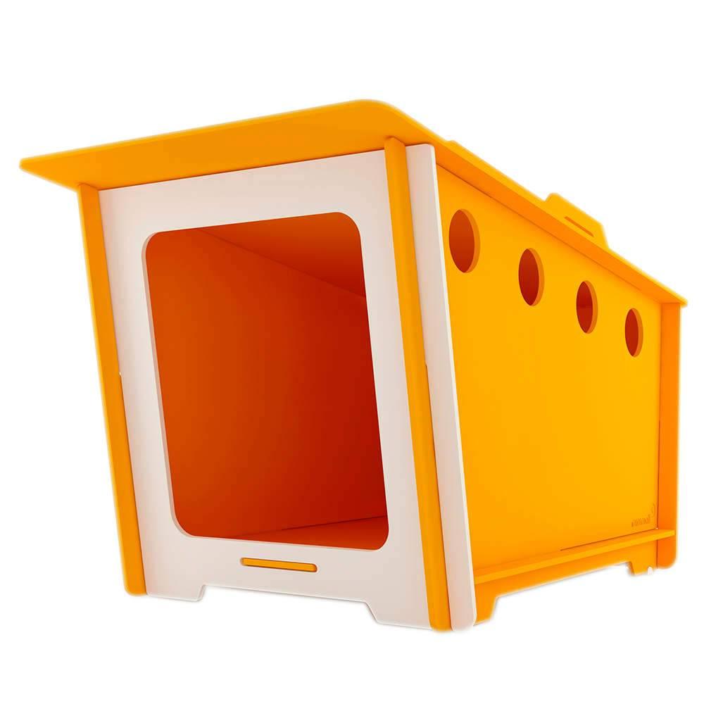 Casinha para Pet MiniHaus Amarela em MDF - Pequena - 74x44 cm