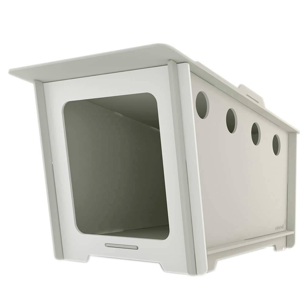 Casinha para Pet MiniHaus Cinza em MDF - Pequena - 74x44 cm