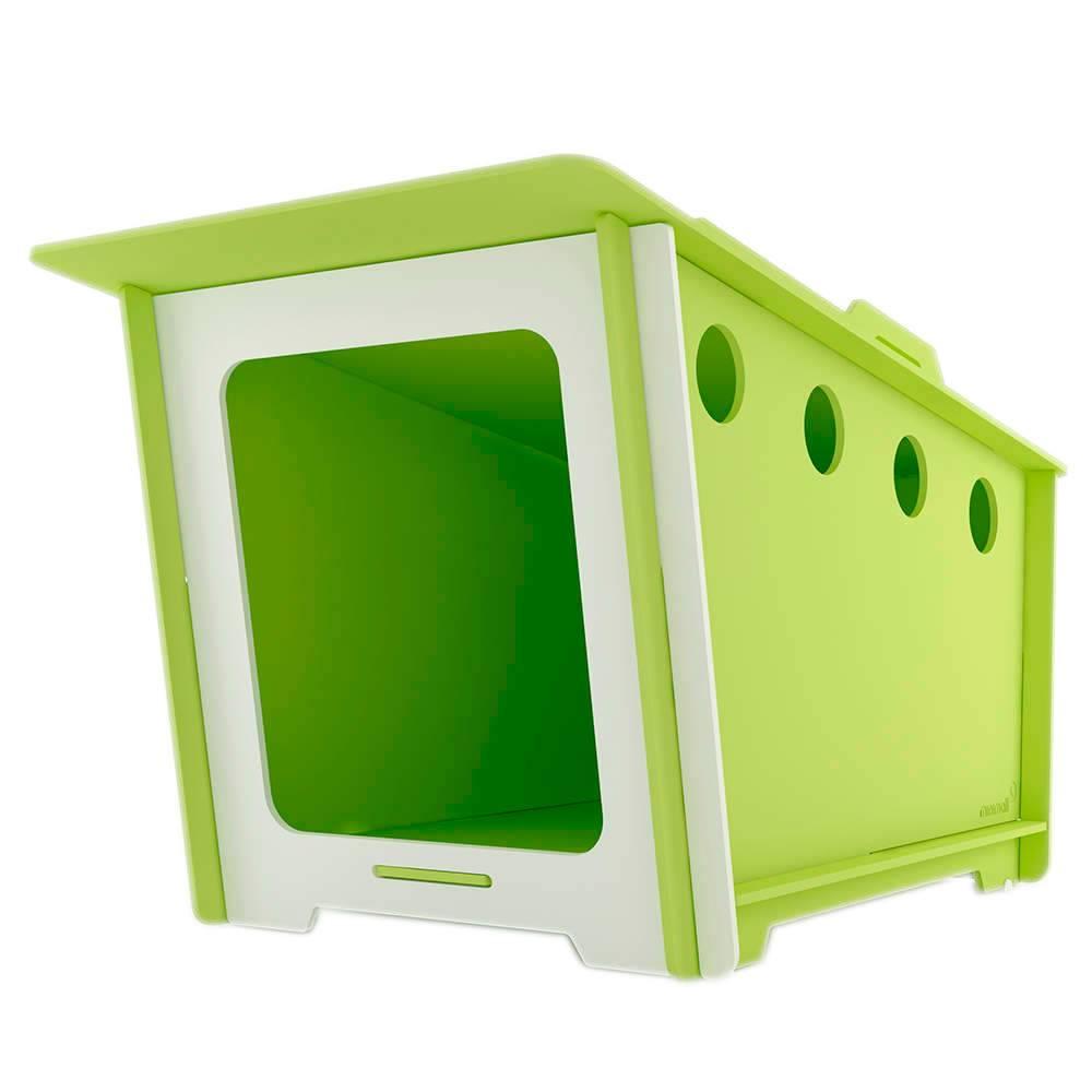 Casinha para Pet MiniHaus Verde em MDF - Pequena - 74x44 cm