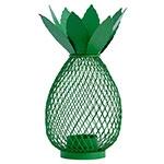 Castiçal Abacaxi Verde em Metal