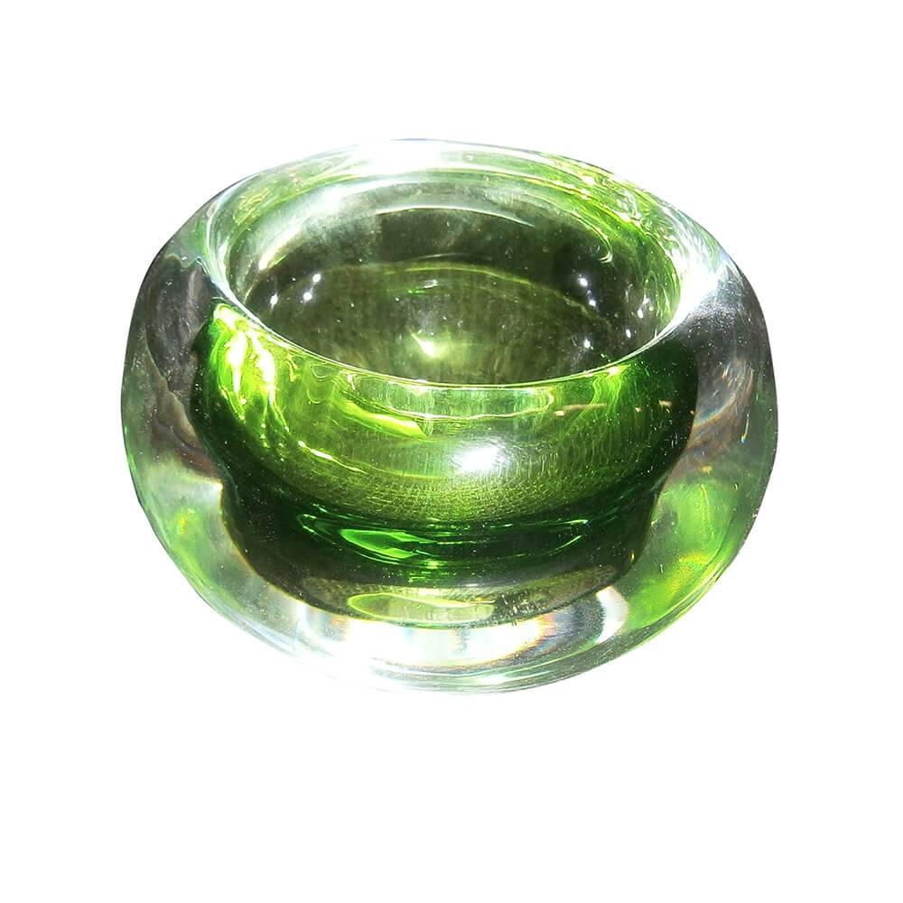 Castiçal Bold Verde em Vidro - Urban - 8x6 cm