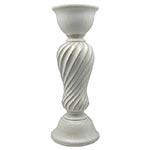 Castiçal Branco de Cerâmica Grande - 35x13x13 cm