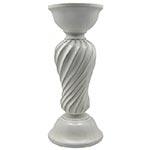 Castiçal Branco de Cerâmica Médio - 30x13x13 cm