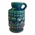 Castiçal Cerâmica Azul P