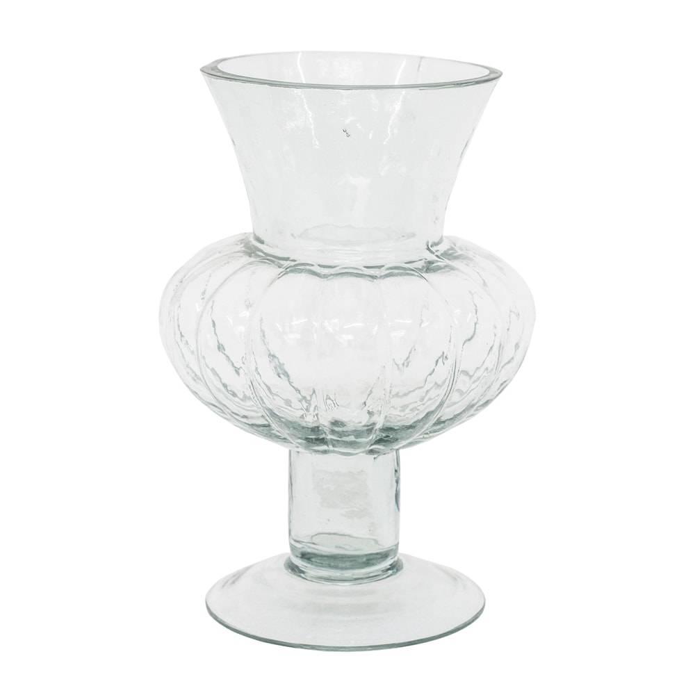 Castiçal Donzela Melon Transparente em Vidro - 24x18 cm
