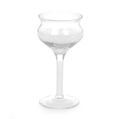 Castiçal Drop Transparente em Vidro - 15x8 cm