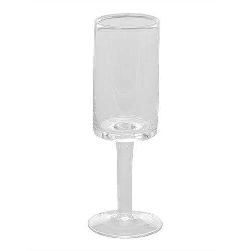 Castiçal Elegance Baixo Transparente em Vidro - 20x7 cm