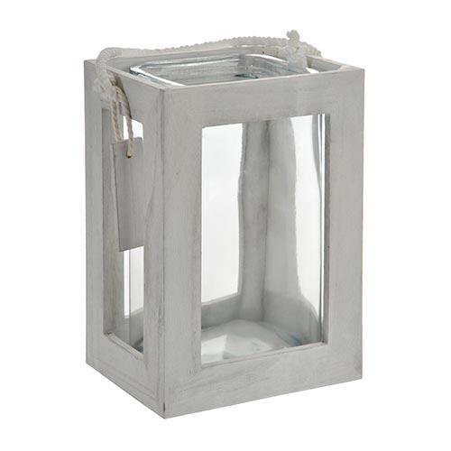 Castiçal Form Base em Madeira Média - 18x14 cm