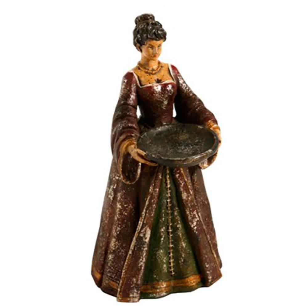 Castiçal Lady em Resina - 24x13 cm
