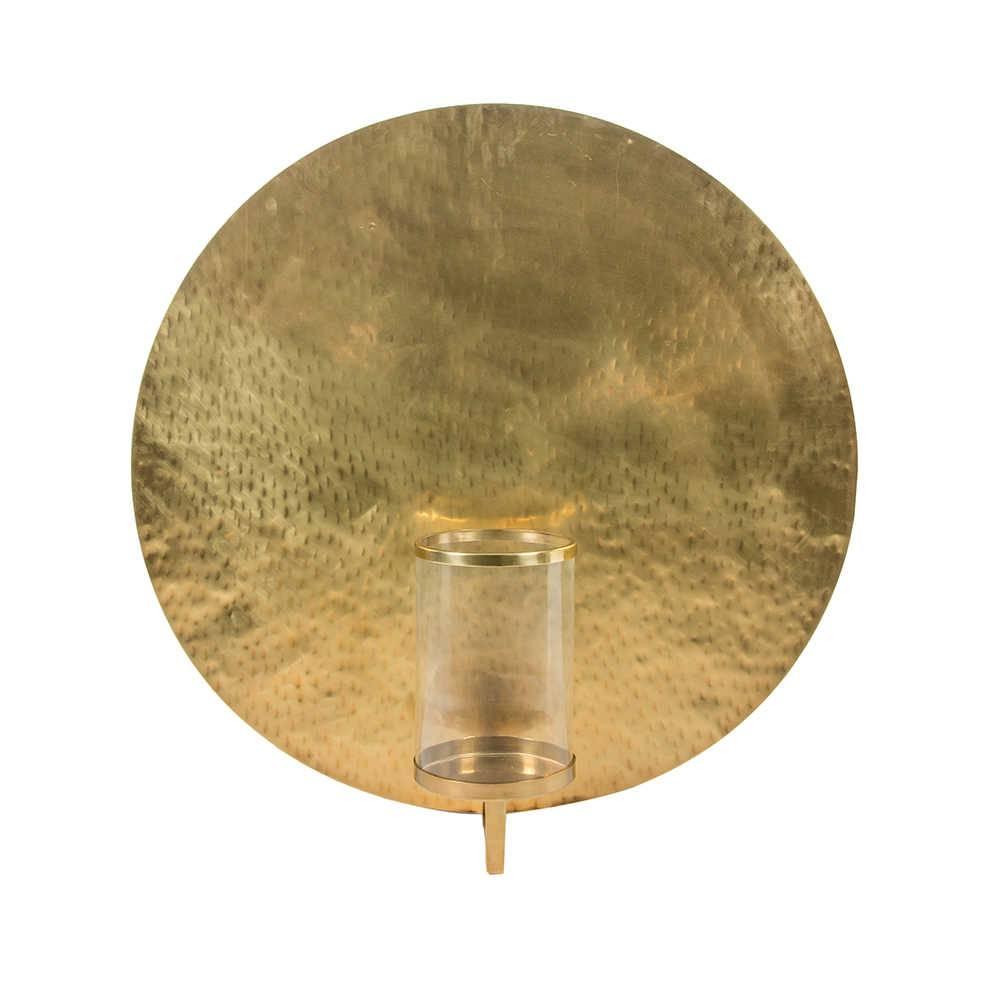 Castiçal Medalhão em Bronze com Redoma em Vidro - 115x85 cm