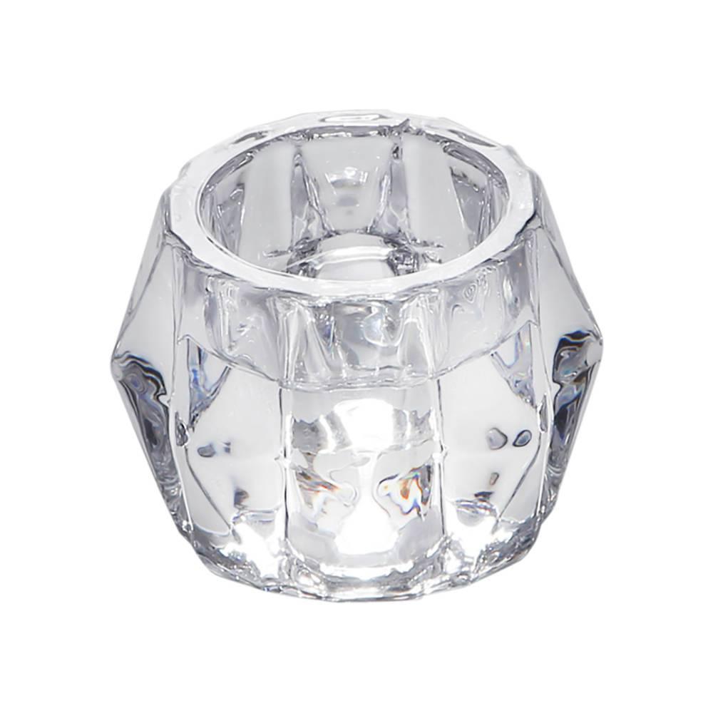 Castiçal Ruy Transparente em Vidro - Bon Gourmet - 7,2x5 cm