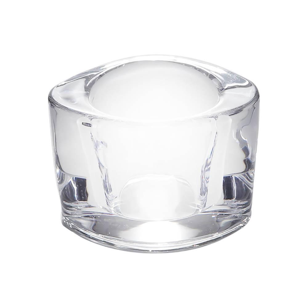 Castiçal Sara em Vidro - Bon Gourmet - 7,5x6 cm