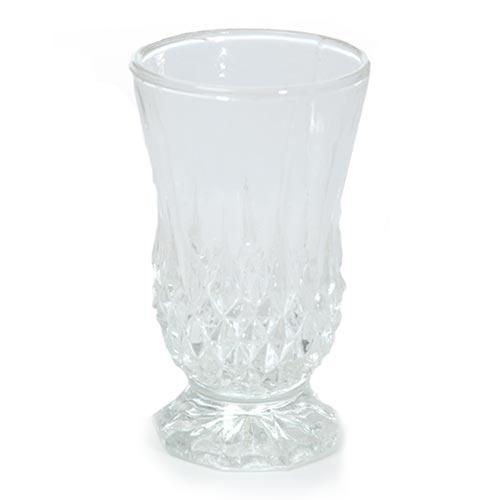 Castiçal Sila Transparente em Vidro - 11x6,5 cm