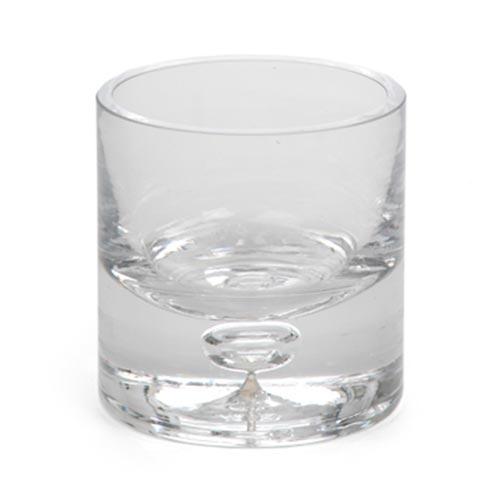 Castiçal Transparente Whisky em Vidro - 8x7 cm