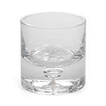 Castiçal Transparente Whisky em Vidro