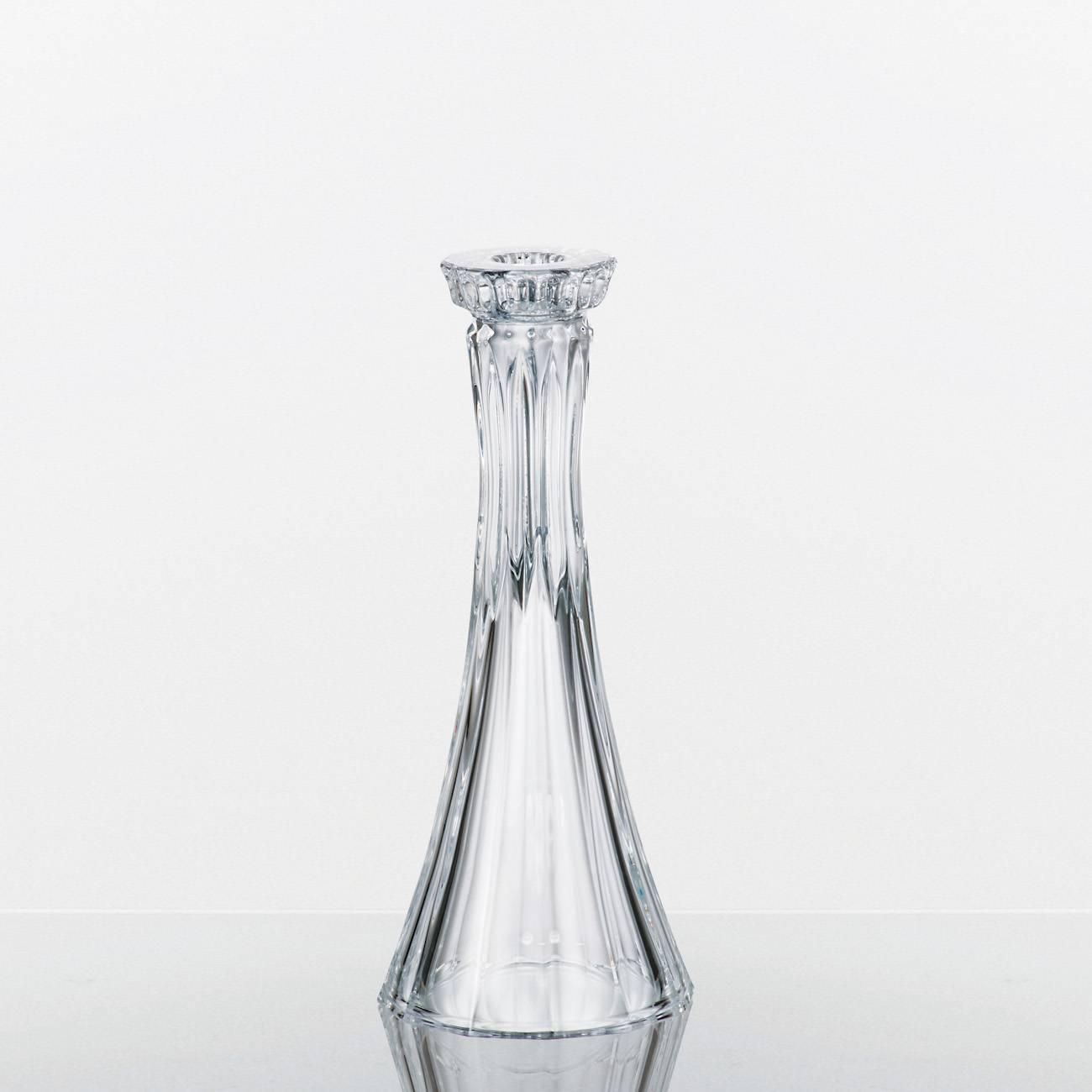 Castiçal Wellington Transparente em Cristal - Bohemia Crystalite - 25,5x9,5 cm