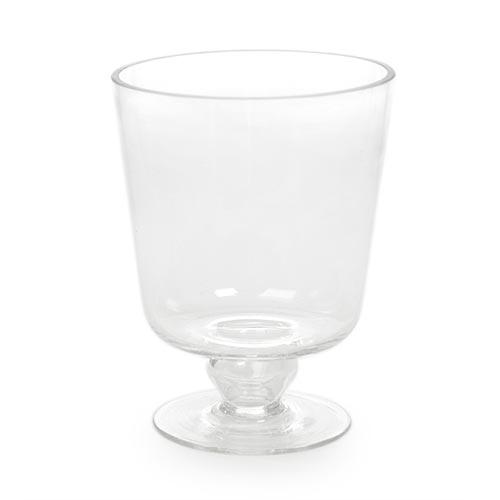 Castiçal/Donzela Alto Transparente em Vidro - 12x9 cm