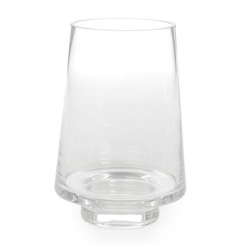 Castiçal/Donzela Transparente em Vidro - 17x11 cm