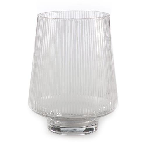 Castiçal/Donzela Transparente em Vidro - 21x16 cm