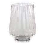 Castiçal/Donzela Transparente em Vidro