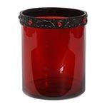 Castiçal/Donzela Vermelho em Vidro