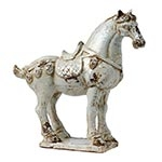 Cavalo Abby Branco em Cerâmica
